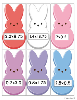 Easter Multiplying Decimals Game