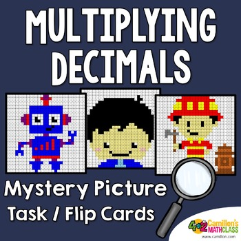 Multiplying Decimals Coloring Page Task Cards Mystery Pictures