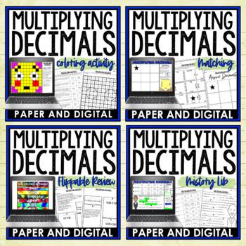 Multiplying Decimals Lesson Bundle