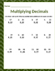 Math: Multiplying Decimals - 4 pages - 45 total problems.