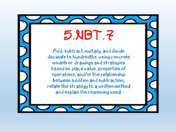 Multiplying Decimals (5.NBT.7) Task Cards