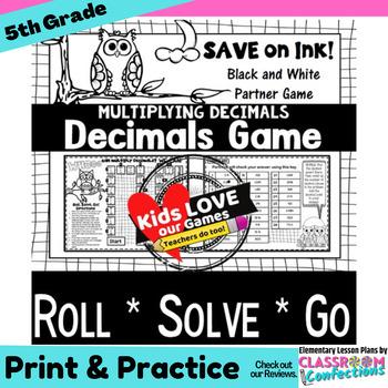Multiplying Decimals Game: 5th Grade Math Game