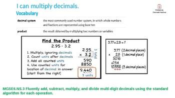 Multiplying Decimals 6.NS.3 Day 1