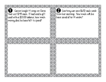 Multiplying Decimals – A Task Card Activity TEK 5.3E