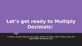 Multiplying Decimals Activator