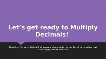 Multiplying Decimals Activator