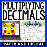 Multiplying Decimals Activity Pack Bundle