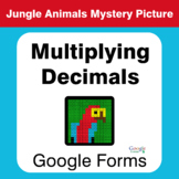 Multiplying Decimals - Animals Mystery Picture - Google Forms