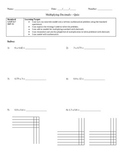 Multiplying Decimals Assessment (Quiz)