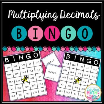 Multiplying Decimals BINGO Game