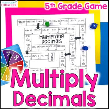 Multiplying Decimals Board Game