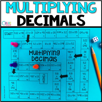 Multiplying Decimals Board Game