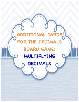 Multiplying Decimals Board Game - Card Pack Only