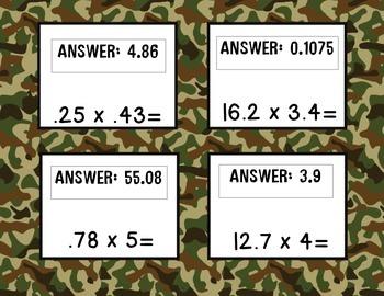 Decimals: Multiplication Boot Camp (Scavenger Hunt)