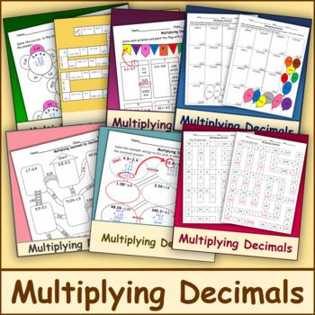 Multiplying Decimals Bundle