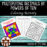 Multiplying Decimals By Powers of Ten Coloring Activity