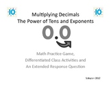 Multiplying Decimals By The Power of Ten and Exponents
