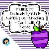 Multiplying Decimals By Whole Numbers QR Code Task Cards