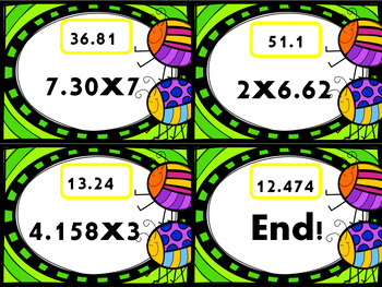 Multiplying Decimals By Whole Numbers Scavenger Hunt