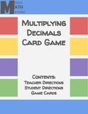 Multiplying Decimals Card Game
