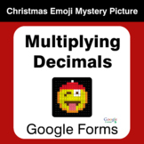 Multiplying Decimals - Christmas EMOJI Mystery Picture - G