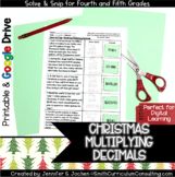 Multiplying Decimals Christmas Solve and Snip