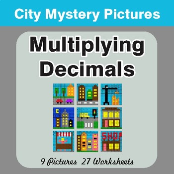 Multiplying Decimals - Color-By-Number Math Mystery Pictures