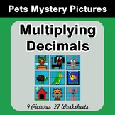 Multiplying Decimals - Color-By-Number Mystery Pictures -