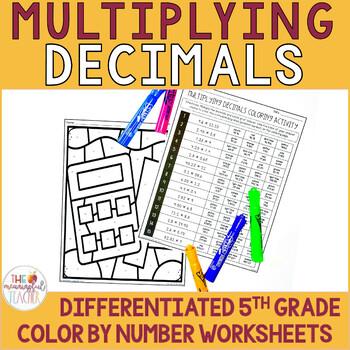 Multiplying Decimals Coloring Activity