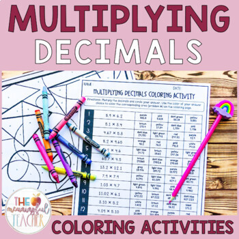 Multiplying Decimals Coloring Activity
