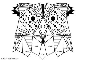 Multiplying Decimals: Coloring Page