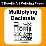 Multiplying Decimals - Coloring Pages | Doodle Art Math