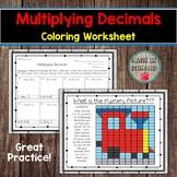 Multiplying Decimals Coloring Worksheet