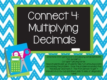 Multiplying Decimals Connect 4