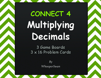 Multiplying Decimals - Connect 4 Game