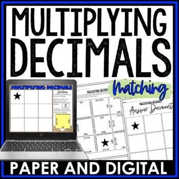 Multiplying Decimals Cut and Paste Activity
