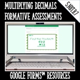 Multiplying Decimals Formative Assessments for Google Form