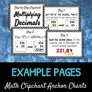 Multiplying Decimals: DIY Math Anchor Chart CLIPCHART