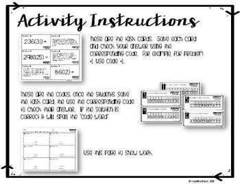 Multiplying Decimals : Decoding Activity