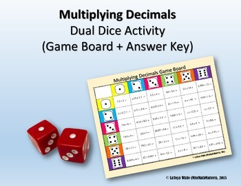 Multiplying Decimals Partner Dice Game