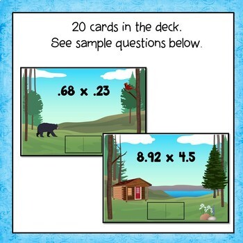Multiplying  Decimals  Digital Interactive Boom Cards Distance Learning