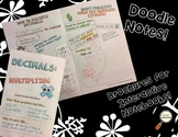 Multiplying Decimals - Decorated Notes Brochure for Interactive Notebooks