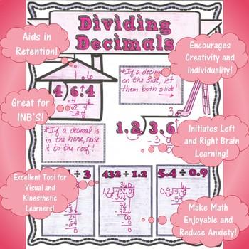 Dividing Decimals - Doodle Notes - (TEKS 5.3G & 6.3E and CCSS 5.NBT.B.7)