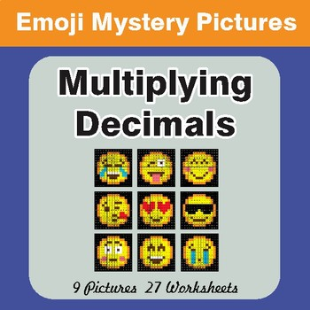 Multiplying Decimals EMOJI Math Mystery Pictures