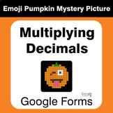 Multiplying Decimals - EMOJI PUMPKIN Mystery Picture - Google Forms
