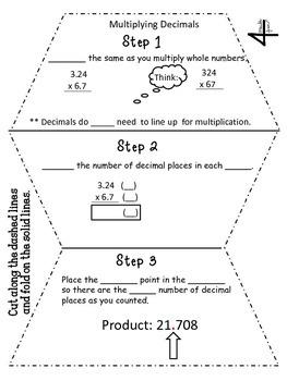Multiplying Decimals Flippable