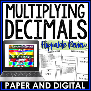 Multiplying Decimals Flippable Review 6.NS.B.3