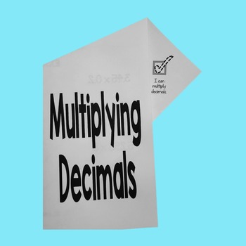 Multiplying Decimals Fold-N-Go Notes™
