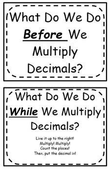 Multiplying Decimals Foldable (Flippable)
