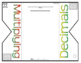 Multiplying Decimals Foldable Graphic Organizer